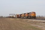 BNSF 4925 leads the 4221 & 9894 west for Kansas City