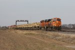 Military equipment heads west on the BNSF as train U-CMYBNT