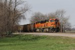 BNSF 5810 & 6421 wait for a new crew before continuing east with loaded coal train C-NAMCNM0
