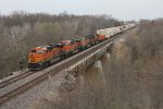 Z-WSPNBY9 passes over the Vermilion River as it rolls through Streator