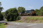 CSX 3346 sits short of the holdout signal while a yard job clears up in the yard