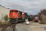 After meeting a northbound, CN 8960 & 2143 come out of the siding with M346