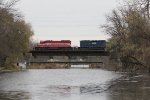 T004 rolls out over the river for headroom