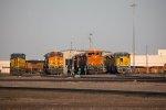 CSX3057, BNSF5077; BNSF8999, and EMDX1607