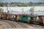 BNSF4135, BNSF1699, BNSF4949, BNSF4965 and Ringling Brothers outside the Shops