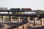 BNSF7865 and CSX402 at BN Xing