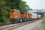 BNSF7323, BNSF6382, BNSF5700, BNSF7344 and Amtrak53 passing Peck Park