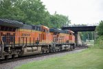 BNSF3799 and BNSF5216 passing Peck Park