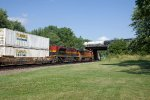 BNSF7881 and KCS4075 passing Peck Park