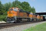 BNSF7958 at Peck Park, BNSF8393, BNSF4863 and BNSF3839