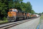 BNSF8186, BNSF4193, CREX1336, BNSF4580 and BNSF8077 at Whitesboro Street
