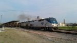 Eastbound California Zephyr pulls out of the station.