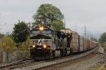NS 9724 leads a short train 11J