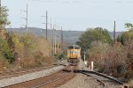 UP 8492 heads east on a light power move past the 26.2 signal