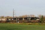NS 9801 leads train M6N eastbound