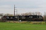 NS 7664 leads train 16N