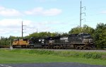 NS 9112 leads train 16T past the signal at 26.2