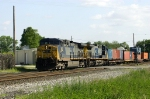 Intermodal train runs through town