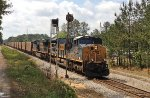 CSX ES44AH's 3142 and 762 passes the old and new signals