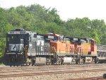 BNSF ballast in the siding