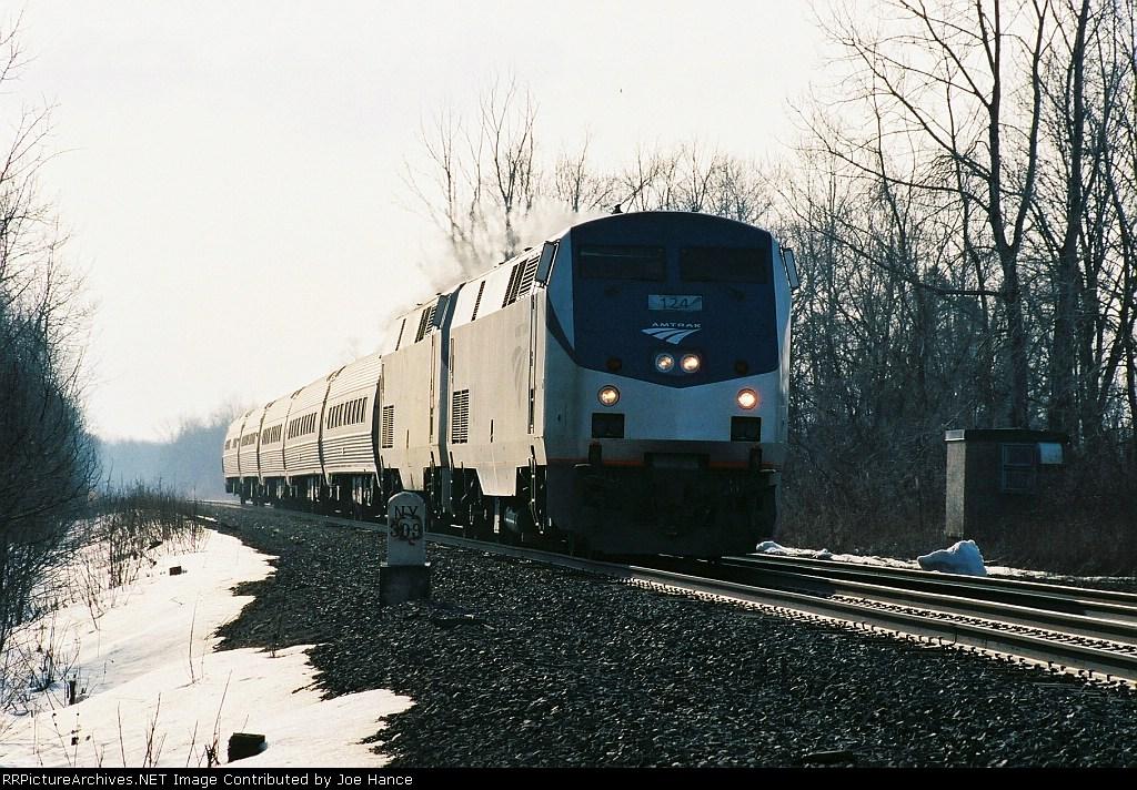 Amtrak 64 at Jordan, NY