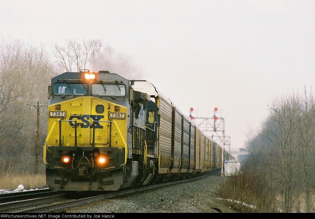 CSXT 7367 at Jordan, NY