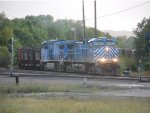 CEFX 1004 leads LS&I's Hill Job out of Eagle Mills Yard