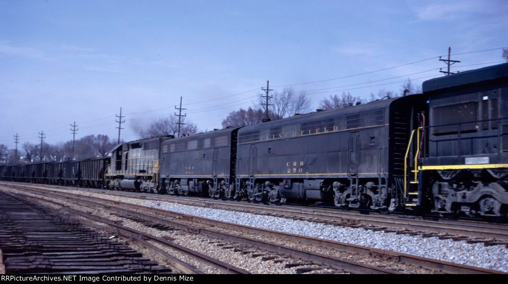 CRR's F7B's used with 4-6-0 #1 also in freight service.