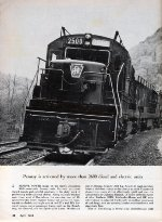 """Largest Locomotive Fleet,"" Page 38, 1964"