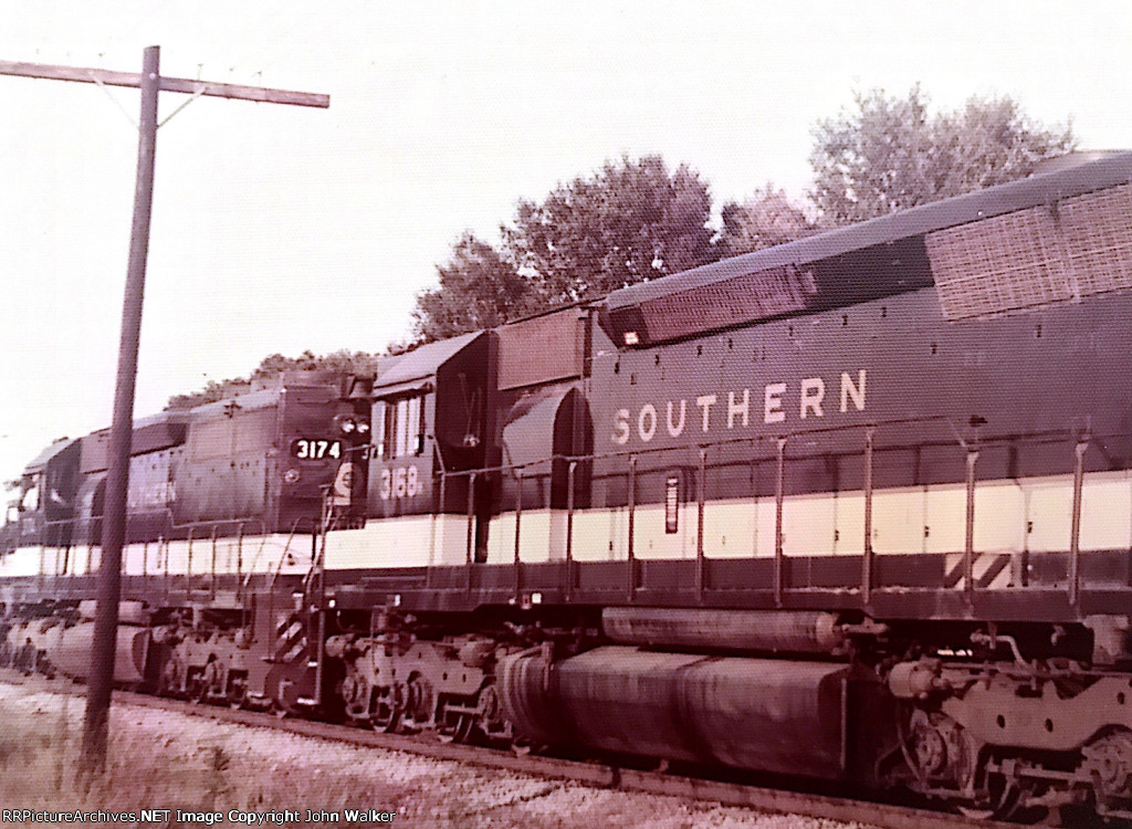 A fast-moving Southern Railway freight