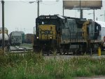 CSX 5946 heads west toward the Almonaster Avenue Bridge to exit Gentilly Yard