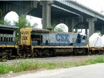 CSX 5563 in Gentilly Yard with I-10 in the background