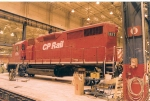 CP 1127 on temporary wheelsets