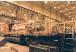SD40-2 undergoing repairs