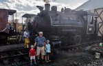 Out chasing steam locomotives with Grandpa