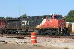 CN 2293 pulling a NB Q train through the yard