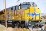 A Very Up Close Shot of UP 3040 A Very Brand New SD -70AH Tier 4 Locomotive Built at Sahagun, Mexico in November 2016 and stored until UP decided they wanted to use the New Tier 4's plus they had issues that only EMD/Progressive Rail had to Fix.