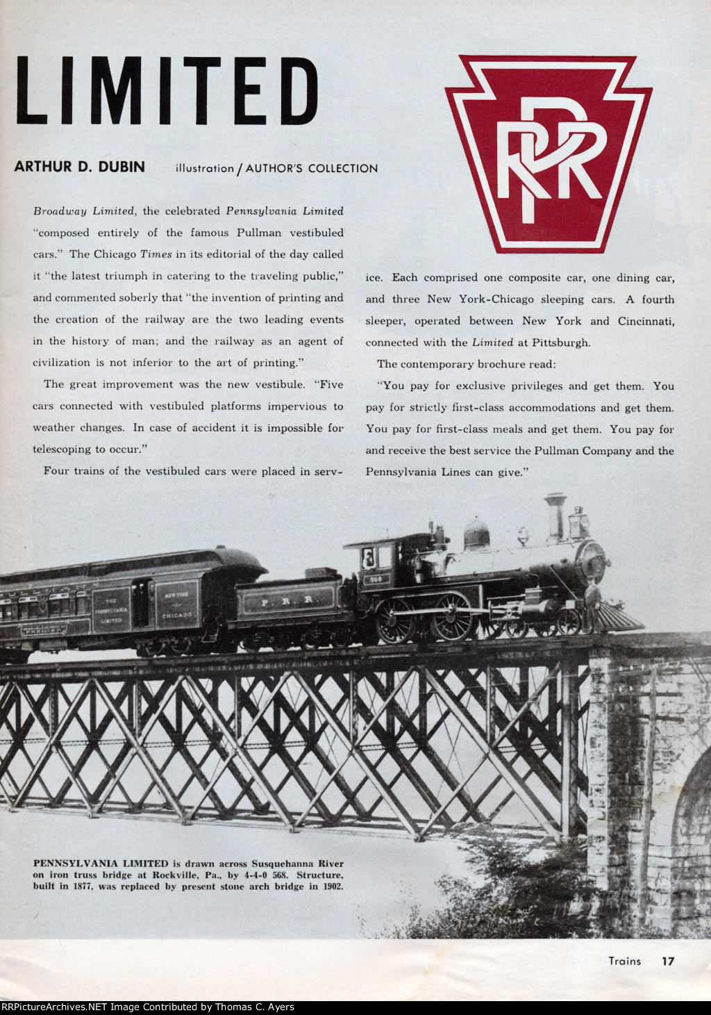 """""""The Broadway Limited,"""" Page 17, 1962"""