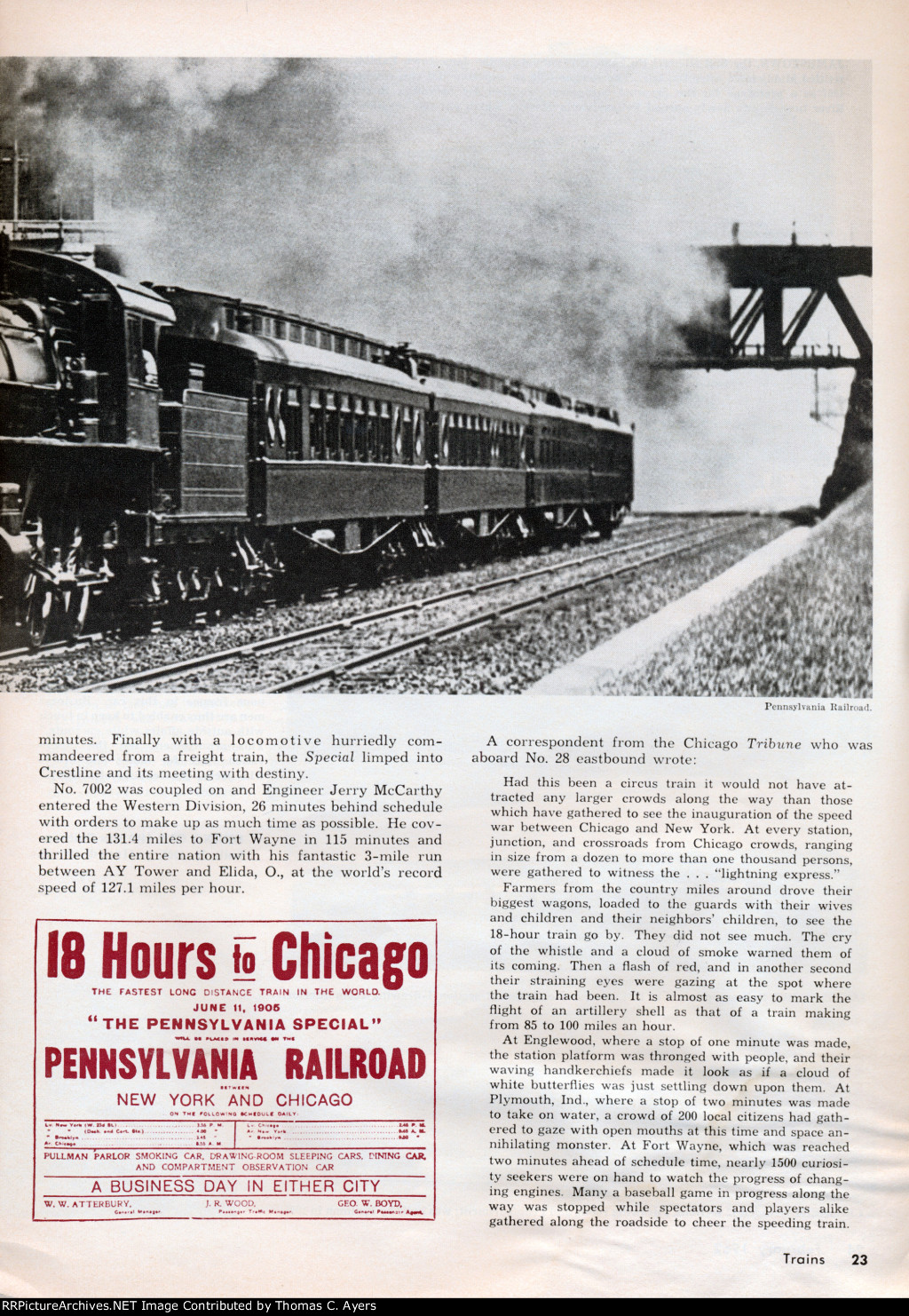 """""""The Broadway Limited,"""" Page 23, 1962"""