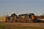 CSXT 8395 On CSX Q 241 Eastbound ( Last Light )