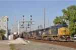 CSXT 9050 On NS 52 X Southbound