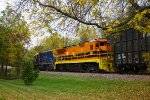 NECR 3844 & P&W 4001 leading the empty chip train through Winooski VT