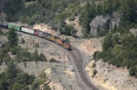 BNSF 4341 is about to take the signal and enter the canyon