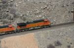 BNSF 4341 passes the moonscape