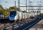 An Acela flies south