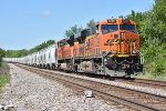 BNSF 7285 Works Dpu on a Westbound sand train.