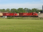 CP 8707 and 8754 waiting to head east with X500-05