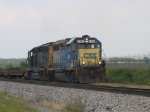 CSX 6100 & 6093 bringing D708 through the siding