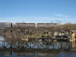 HLCX 9026 & 9018 crossing the Thornapple River