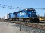 CSX 8822 & 7929 leading Q326-18 out of the yard